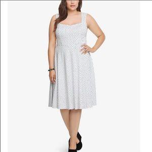 Torrid Polka Dot Swing Dress Black/White